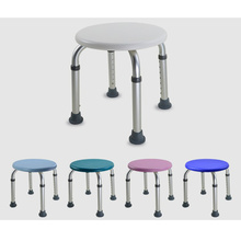 Bench-Stool-Seat Shower-Chair Bath-Tub with Non-Slip Rubber-Sole for 8-Height Adjustable