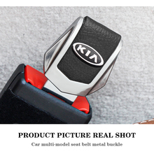 รถความปลอดภัยหัวเข็มขัดคลิปใส่ปลั๊กคลิปคุณภาพดีรถที่นั่งเข็มขัดหัวเข็มขัดสำหรับ KIA Cerato Sportage R K2 K3 k5 RIO 3 4 Sorento
