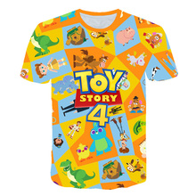The Walking Toys Boys Girl T-Shirt Toy Story Sherif Woody Cartoon Buzz Lightyear 3d t shirt tee Top For Kid Harajuku t shirts цены