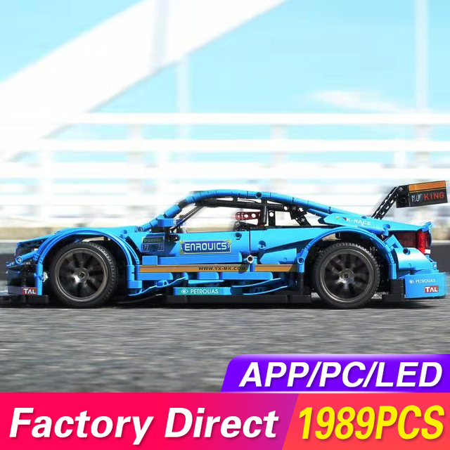 Compatible with Technic Series Remote Control Benzs AMGS C63 DTM MOC 6687 RC Car Model Building Blocks Bricks Toys For Kids Gift