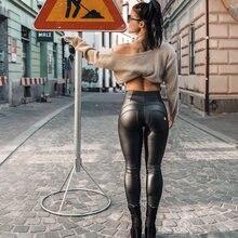 Женские кожаные штаны melody размера плюс джоггеры тонкие облегающие