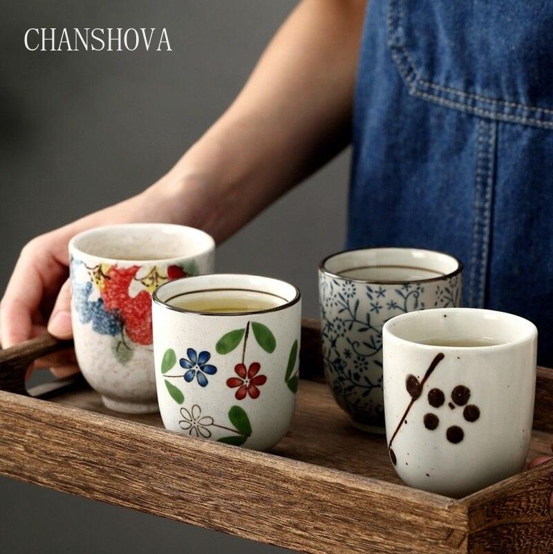 CHANSHOVA Традиционный китайский стиль ручная роспись 200 мл керамическая чашка фарфоровая маленькая и большая кофейная чашка H044