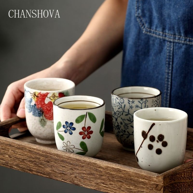 CHANSHOVA Traditional Chinese Style Handpainted 200ml Ceramic Teacup China Porcelain Small and Large Coffee cup H044