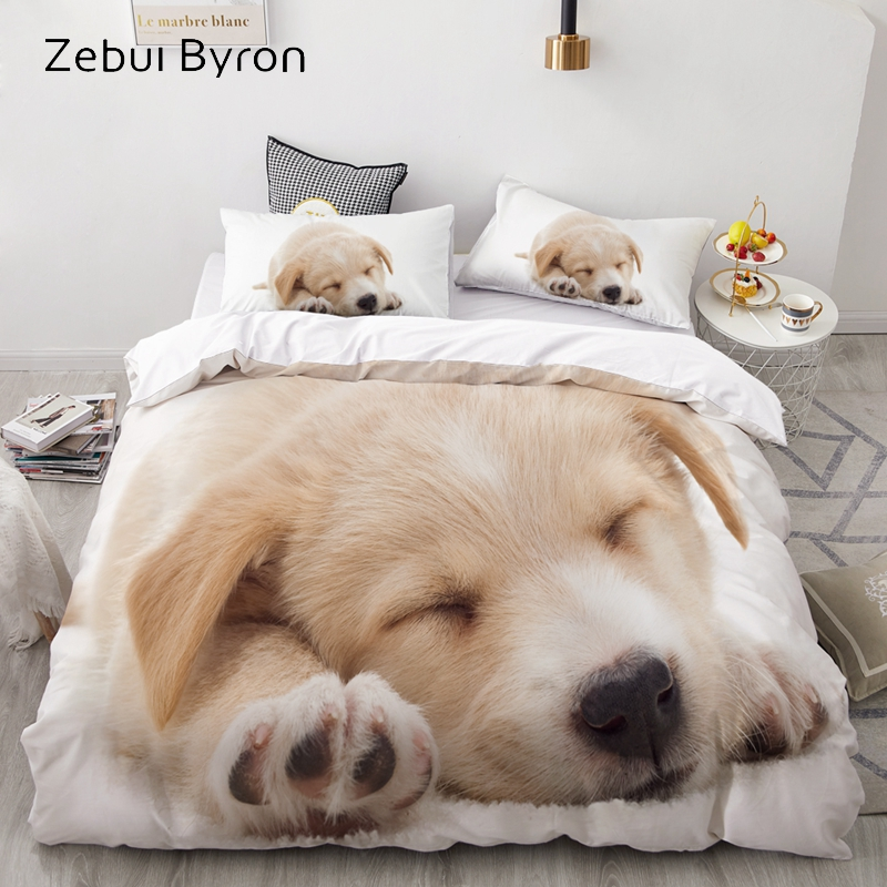 3D Luxury Bedding Set Custom/King/Europe/USA,Duvet Cover Set,Quilt/Blanket Cover Set,Bed Set Animal Pet Dogs Pattern,drop Ship