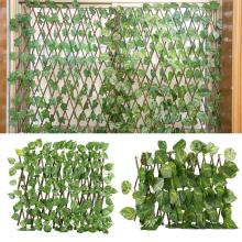 Home-Decorations Expandable Privacy Fence Artificial-Garden-Fence Wood Gardening-Plant