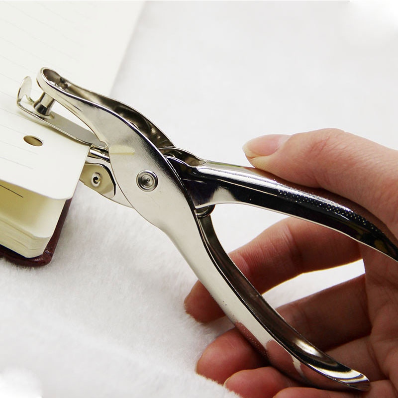 Metal 6mm Diameter Hole Punching Pliers Single Hole Creative Paper-cut Manual Punching Machine 1-8 Page Punch Paper