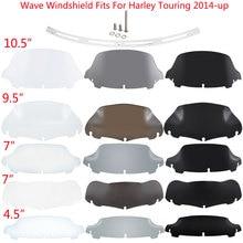Pára-brisa da motocicleta para harley touring rua electra glide ultra limitada flhx 14-2020 superior carenagem defletor de vento