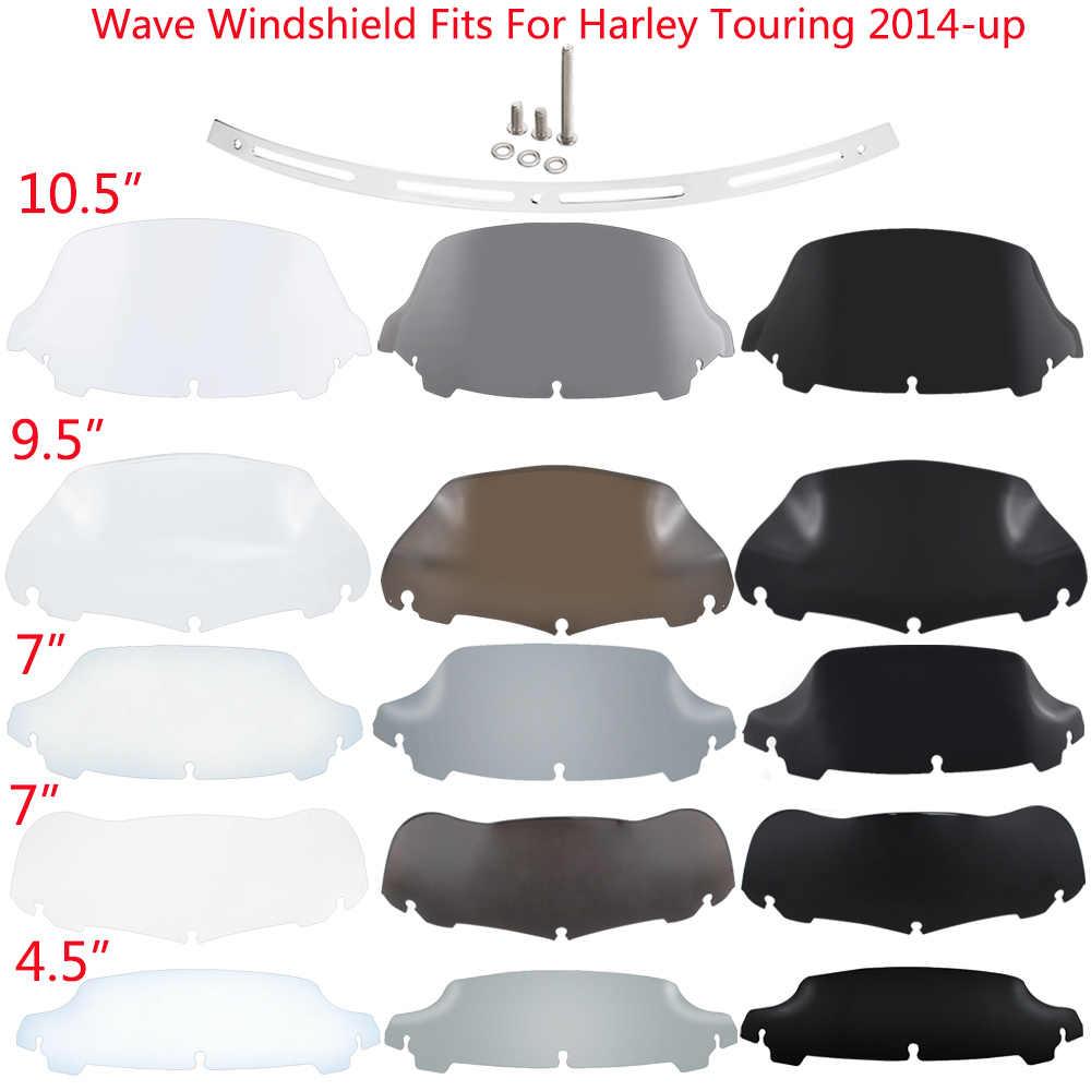 9 Clear Fairing WindShield Screen Deflectors Fit For Harley Electra Glide FLHTCU FLHTK 14-16 Motorcycle Windshield Deflector Spoiler