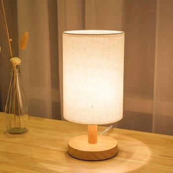 E27 nowoczesna stara lampa odcień stół biurko oświetlenie łóżka osłona z uchwytem abażury lampka nocna do dekoracji wnętrz tanie i dobre opinie alloet Łóżko pokój WHITE Dół table BAMBOO Brak 220 v Dotykowy włącznik wyłącznik Żarówki led Nowoczesne Gładkie barwione