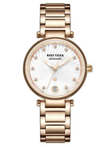 Luxury Watches White Tiger/rt Bracelet Women Automatic Ladies for Rose-Gold Diamond Dial