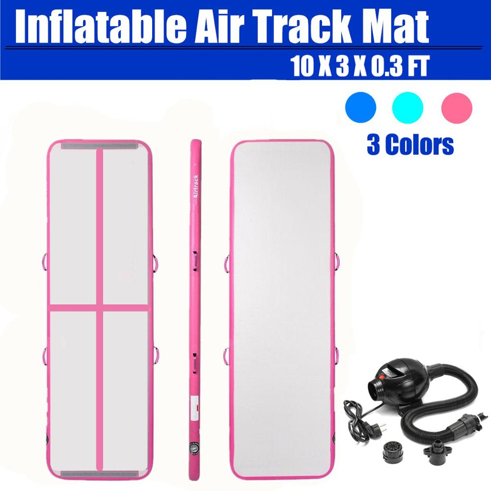 Air Track 10ft 13ft 16ft Airtrack Gymnastics Tumbling Mat Inflatable Tumble Track with Electric Air Pump for Home use
