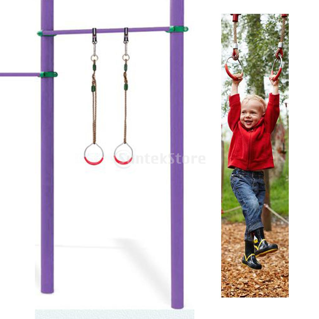Wooden Strength Training Rings Gymnastic Rings Adjustable Straps Buckles Set Fitness Tool Fitness & Body Building for Kids Adult