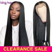 Düz 13x4 13x6 dantel ön İnsan saç peruk brezilyalı peruk 4x4 5x5 6x6 7x7 dantel kapatma kadınlar için peruk ön koparıp 28 30 inç