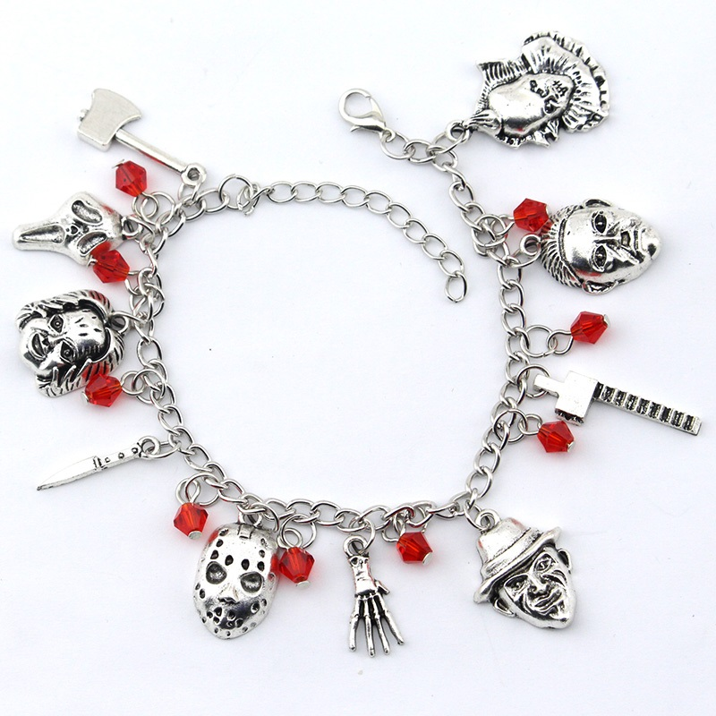 Charm Bracelet Jewelry Hockey-Horror Chucky Gifts Penny Wise Face Jason Stephen Kings
