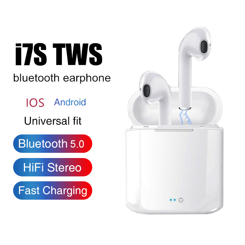 i7s <font><b>TWS</b></font> Wireless Earphones Earpiece Bluetooth 5.0 <font><b>Air</b></font> sport Earbuds Headset With Mic For iphone samsung Xiaomi redmi smartphone image