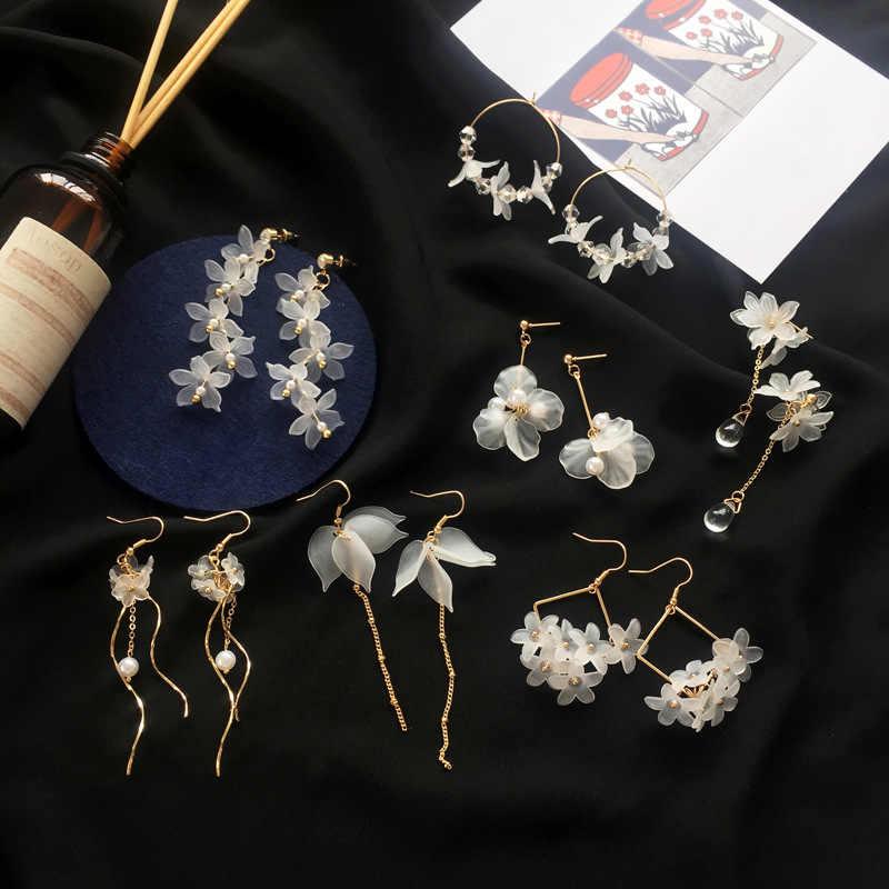 2019 nova flor artesanal bohemia boho brincos moda feminina longo pendurado brincos de cristal feminino casamento brincos festa jóias