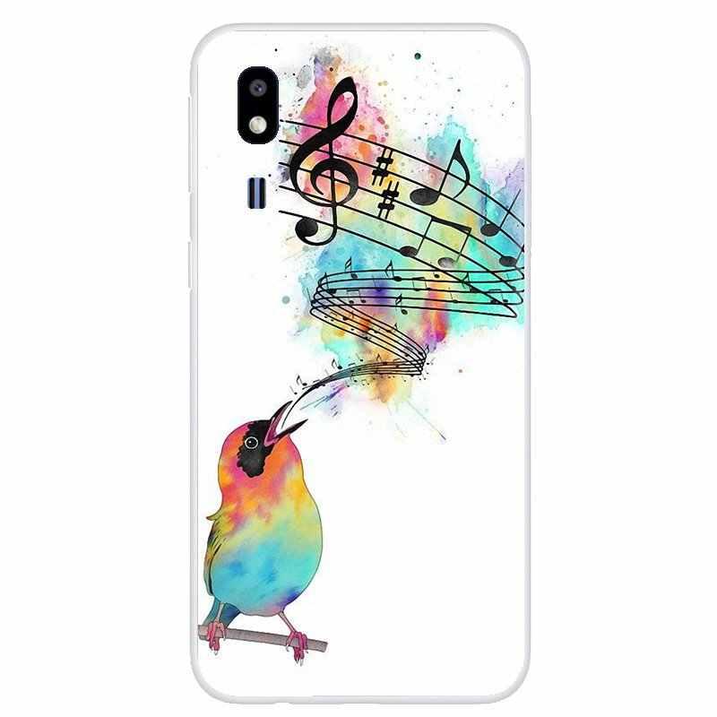 Couverture souple Notes de musique violon musique classique Art pour Samsung Galaxy Note 2 3 4 5 8 9 S2 S3 S4 S5 Mini S6 S7 Edge S8 S9 Plus
