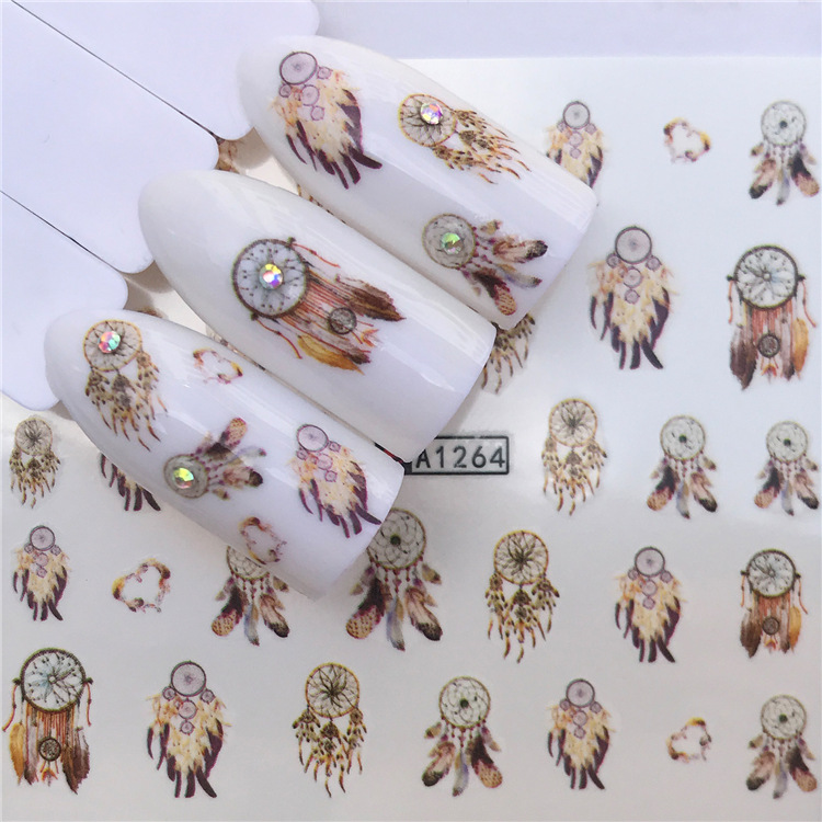 AliExpress Hot Selling Wholesale Dream Catcher Fruit Smiley Nail Sticker Water Transfer Stickers Nail Ornament Currently Availab