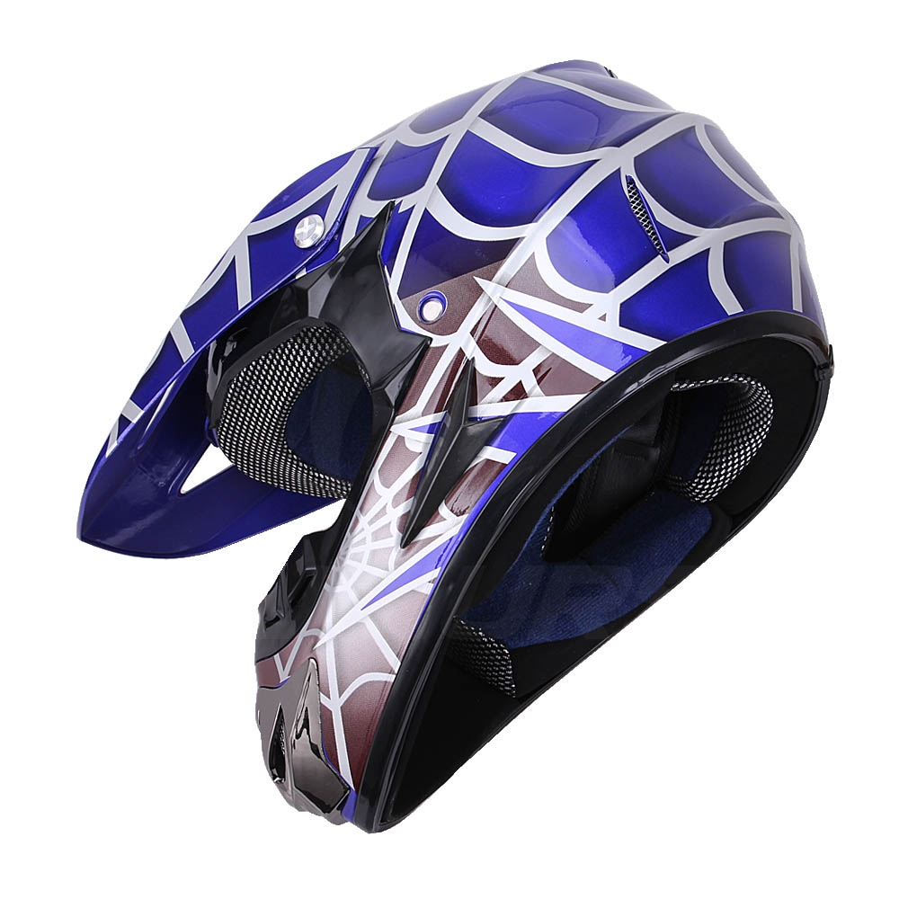 OUMURS DOT Cool Web Style Motorcycle Children Helmet 12