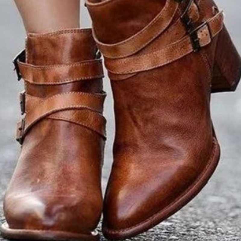 WENYUJH 2019 di Modo casual Delle Donne Pompe Caviglia Caldo Stivali Impermeabili Degli Alti Talloni Racchette Da Neve Botas Plus Size 35-43