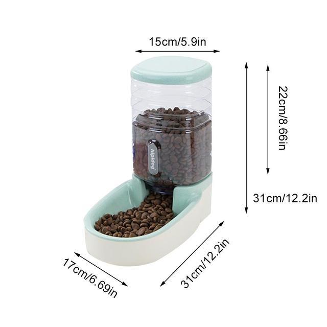 Automatic Water Feeder 3.8L Food Storage Bucket & Cat Water Fountain Dispenser 6