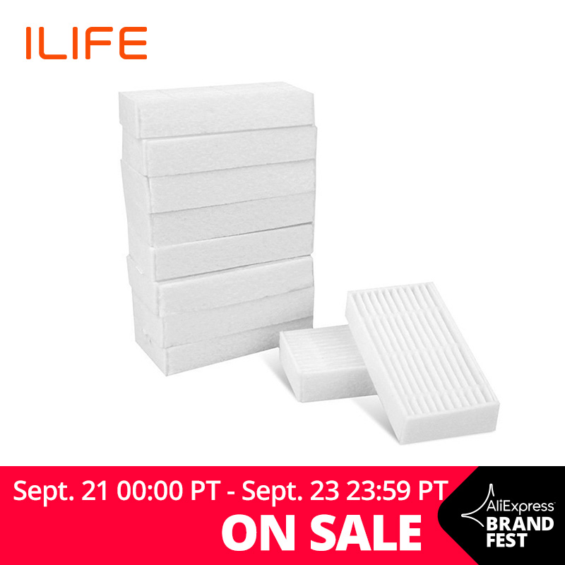 ILIFE V5s Pro V3s Pro 10Pcs Filter Pack Kit de Substituição de Peças De Reposição