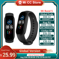 Globale Version Xiaomi Mi Band 5 Armband Fitness Tracker Armband 1,1 Zoll Bunte AMOLED Bildschirm Wasserdichte Smart Band 5