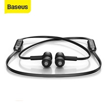 Baseus S06 Không Dây Bluetooth Từ Tính Cổ Tai Nghe Bluetooth Thể Thao Tai Nghe Stereo Tai Nghe Cho Samsung Xiaomi