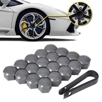 Car 20pcs 17mm,19mm,21mm Tyre Wheel Hub Covers Protection Caps Wheel Nuts Covers Nut Caps Hub Screw Protector Dust Proof Bolt R image