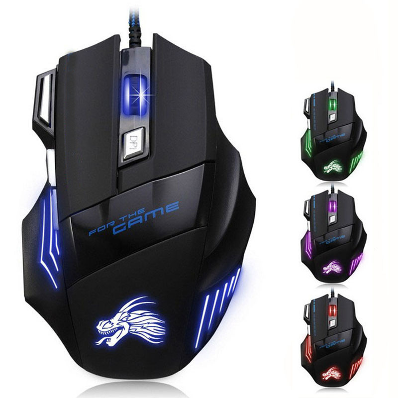 Ergonomic Wired Gaming Mouse 7 Button 5500 DPI LED USB Computer Mouse Gamer Mice X7 Silent Mause With Backlight For PC Laptop A