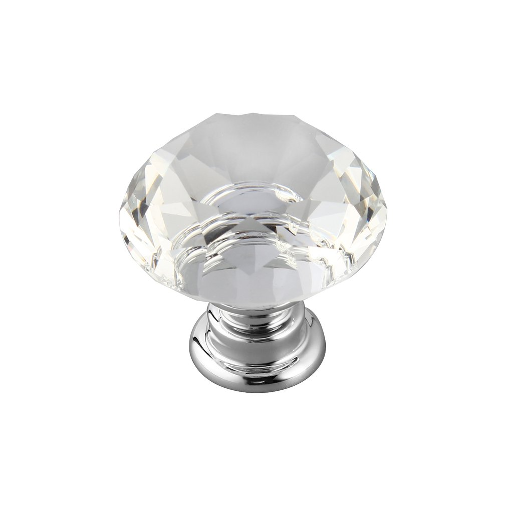 10 шт. 30 мм Алмазная форма Хрустальная стеклянная дверная ручка для мебели ящика шкафа кухонные ручки, кнобы ручка гардероб - 2