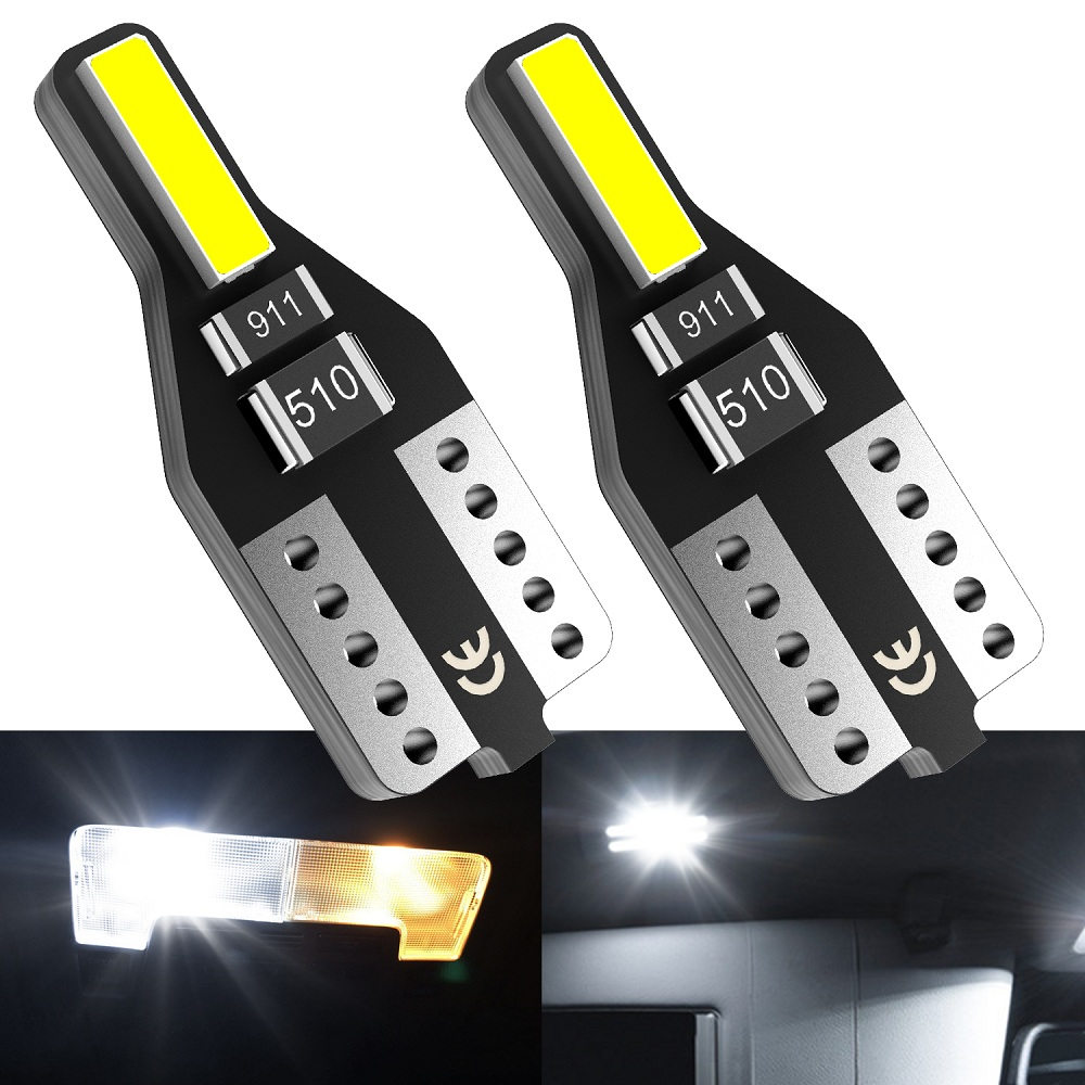 2PCS T10 W5W LED Car Interior Light 12V 168 194 Reading Lights For <font><b>Audi</b></font> A3 <font><b>A4</b></font> B6 B8 A6 C6 80 <font><b>B5</b></font> B7 A5 Q5 Q7 TT 8P 100 8L C7 8V image