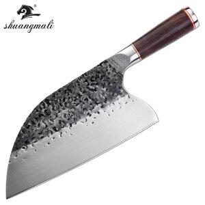 Image 5 - Нож мясника из нержавеющей стали 5CR15MOV, китайский кухонный нож, поварские инструменты с деревянной ручкой