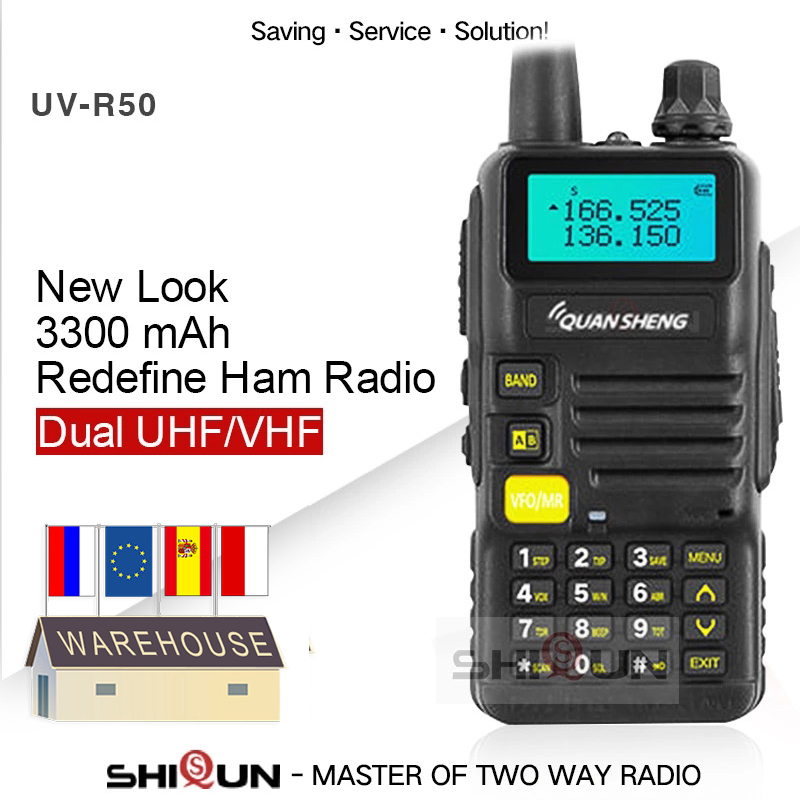 Quansheng UV-R50-2 Upgrade Mobile Walkie Talkie Vhf Uhf Dual Band Radio Comunicador Hf Transceiver UV-R50-1 UV R50 Series Uv-5r