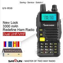 Quansheng UV R50 2 שדרוג נייד ווקי טוקי Vhf Uhf Dual Band רדיו Comunicador Hf משדר UV R50 1 UV R50 סדרת Uv 5r