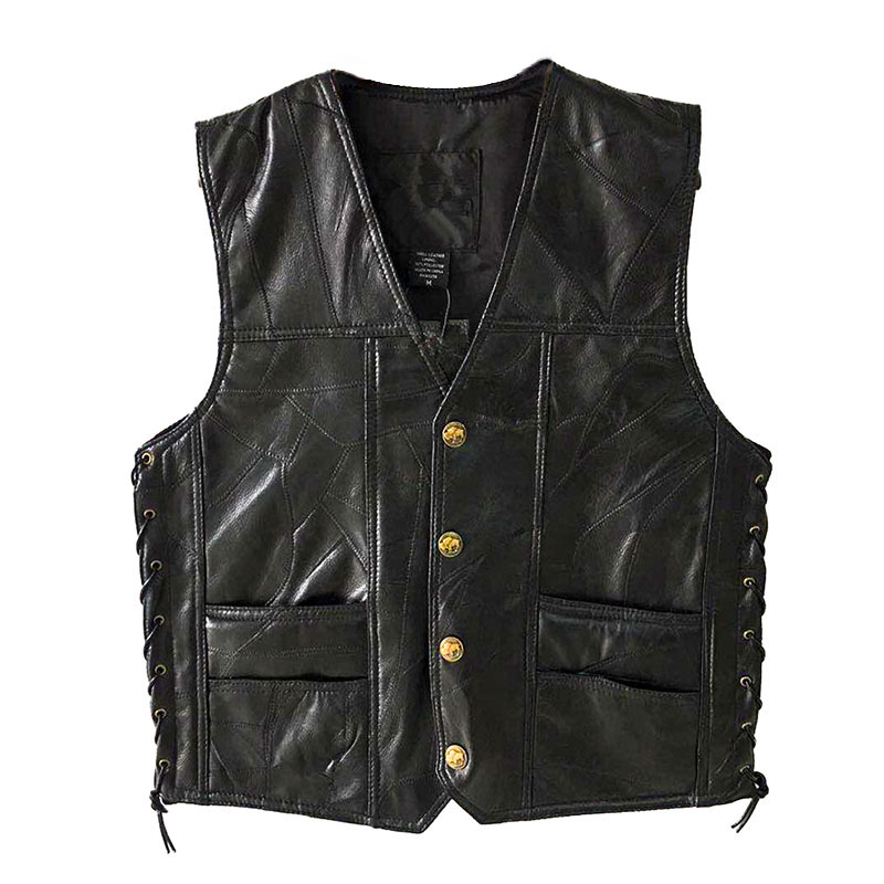 Image 3 - PU Vests Men Sleeveless Jacket Vest Male Streetwear Lether Punk Hip Hop Black 2019 New Brand Motorcycle Waistcoat Jackets Coats-in Vests & Waistcoats from Men's Clothing