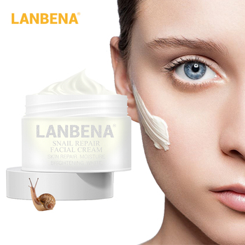 LANBENA Snail Repair Whitening Facial Cream Day Cream Anti Wrinkle Anti Aging Acne Treatment Moisturizing Firming Skin Care 30g anti wrinkle anti aging snail moist nourishing facial cream cream imported raw materials skin care wrinkle firming snail care