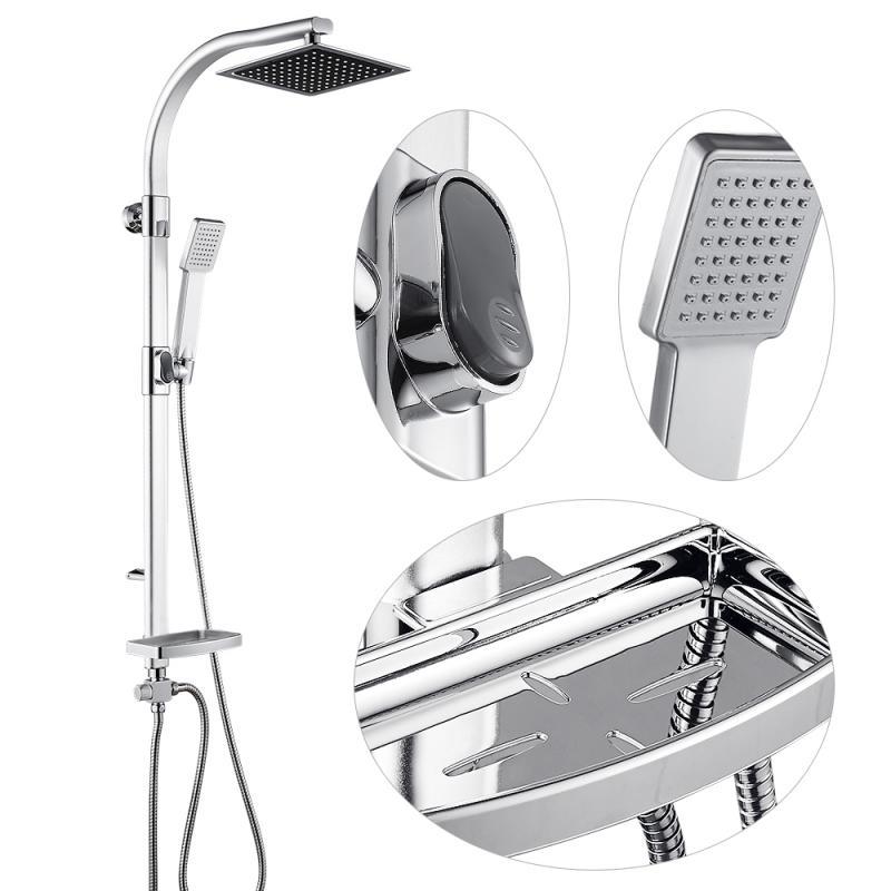 Hf092062a5604438dab4e549da4c94f75V Aluminum Alloy Shower System Set Bathtub Thermostatic Shower Mixer With Hand Shower Soap Box Bathroom Faucets Shower Set HWC