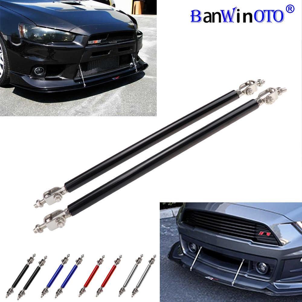 KKmoon 2 X Adjustable Front Bumper Lip Splitter Strut Tie Bar Support Rod 75-200mm Carbon