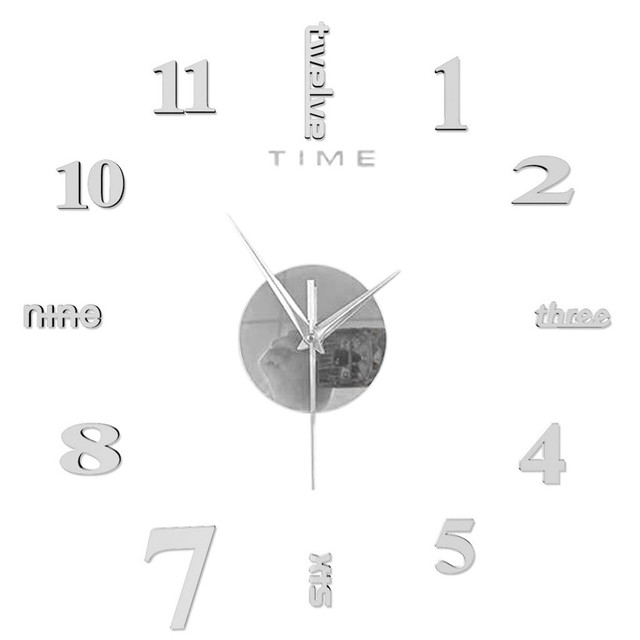 Top Selling Product Frameless Diy Wall Mute Clock 3d Mirror Surface Sticker Home Office Decor Support Wholesale Dropshipping 3