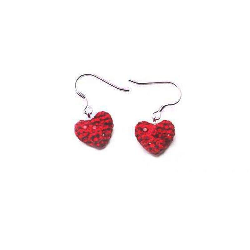SWA RO 2019 charme de mode nouveau classique coeur rouge Zircon haute qualité femmes européennes et américaines tendance boucles d'oreilles