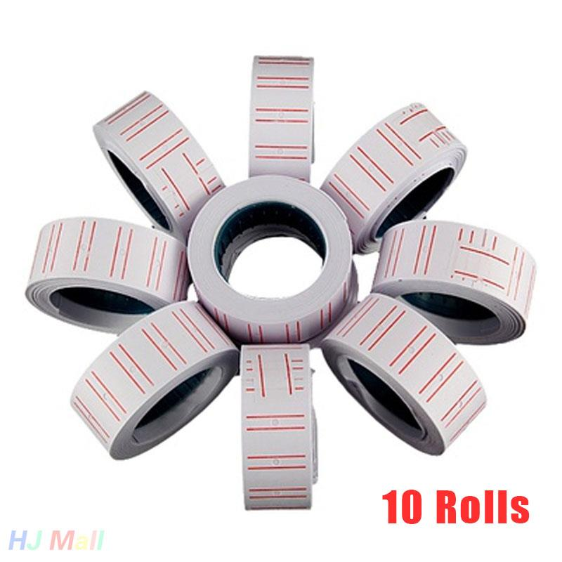 Gun Case 10 Rolls Label Paper MX-5500 Price Glue Sticks Bulk Box Labels For Sticker Labels Price Tags White Tagging Tag