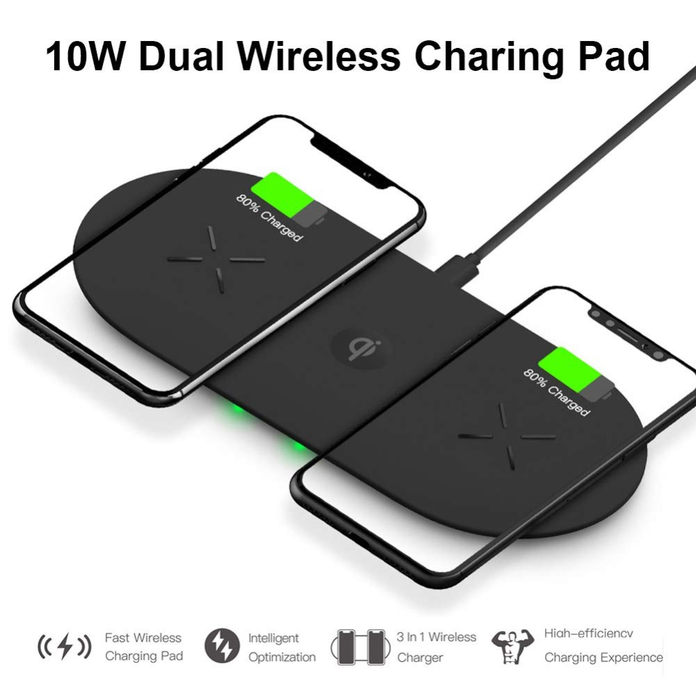 Bonola 3 In1 Wireless Charging Pad For iPhone 11Pro11XRXsMax Charger Dock For Apple Watch 5 Wireless Charger For AirPods Pro  (2)