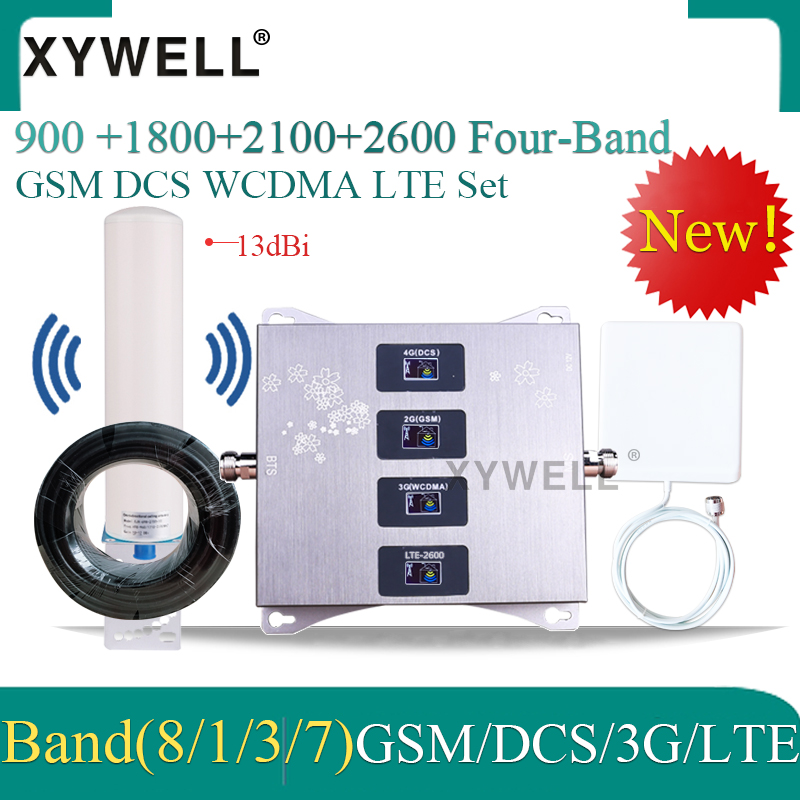 900/1800/2100/2600mhz Four-Band Cellular Amplifier 4g Signal Booster 2g 3g 4g DCS WCDMA LTE GSM Mobile Signal Repeater