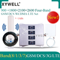 900/1800/2100/2600mhz Vier-Band cellular Verstärker 4g signal booster 2g 3g 4g DCS WCDMA LTE GSM Mobile Signal Repeater