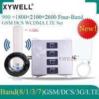 900/1800/2100/2600mhz czterozakresowy wzmacniacz komórkowy 4g wzmacniacz sygnału 2g 3g 4g DCS WCDMA LTE GSM mobilny wzmacniacz sygnału