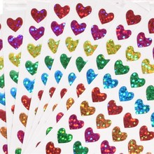 10 листов/уп Симпатичные флэш-стикер для канцелярских товаров оформление альбома, дневника Стикеры наклейка в форме сердца, детский подарок стикер для канцелярских товаров