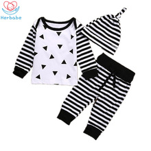 Herbabe Infant Clothing Sets 2019 Summer Newborn Baby Girl Clothes O-Neck Short Sleeve Boy Outfit Sets Children Kids Carters newborn kids outfit baby boy girl clothes hoodie sweatshirttops pants gift sets