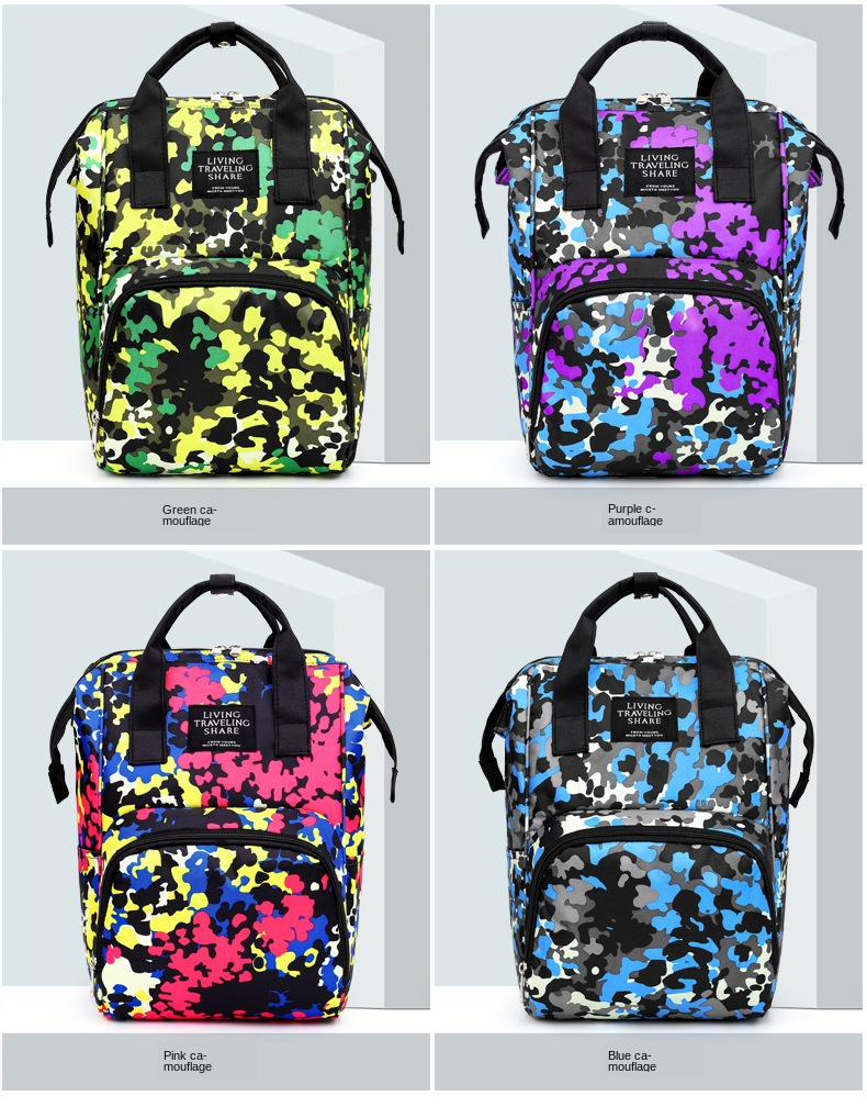 New Style Camouflage Baby Diaper Bag Fashion Mommy Bag  Waterproof Nappy Backpack For Moms