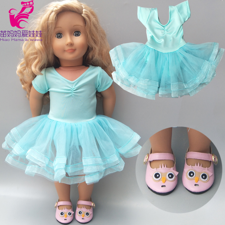 Doll Dancing Dress Fit For 43cm Born Baby Doll Clothes 18 Inch American Doll Clothes Dress
